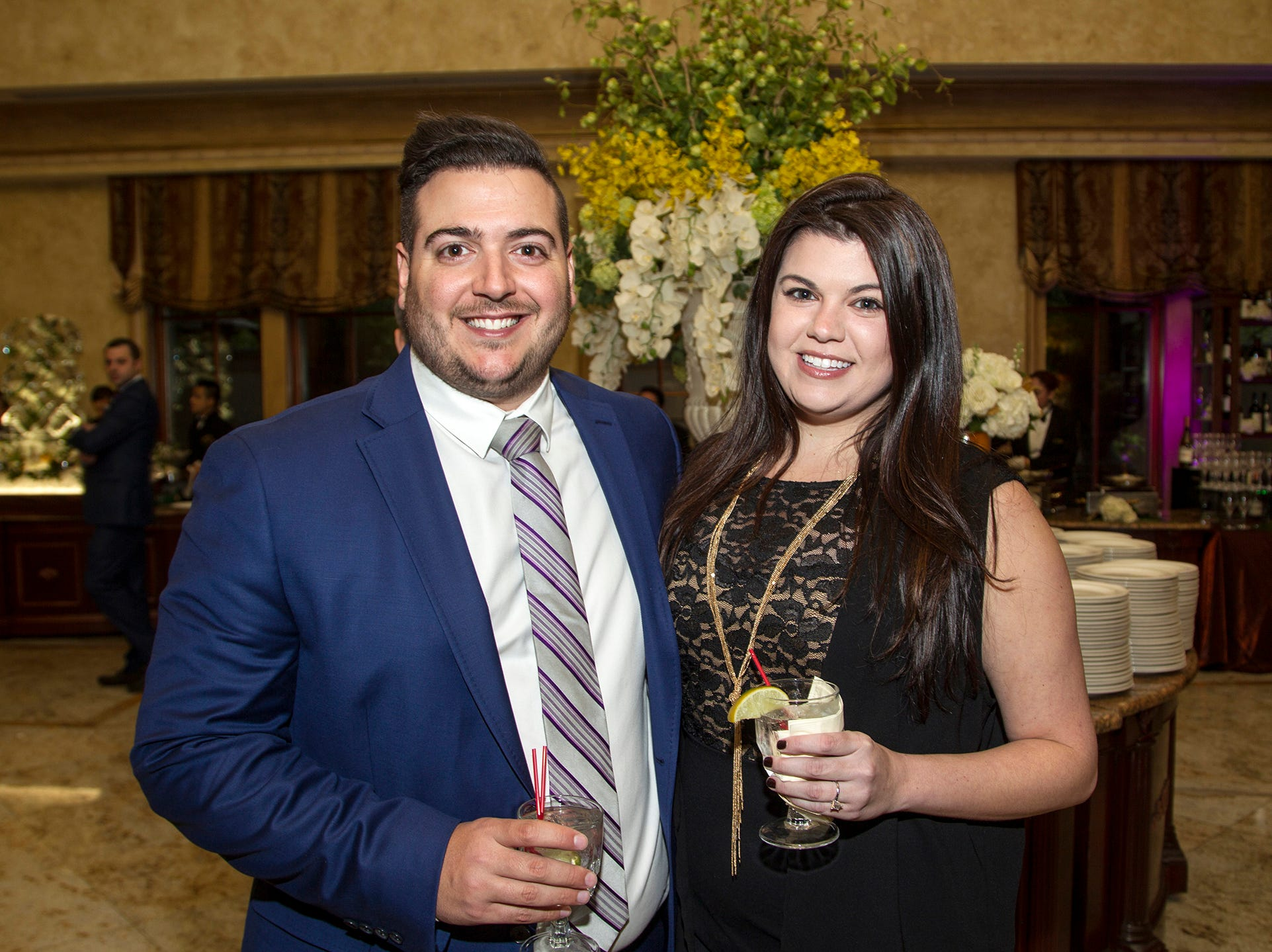 "Joe and Jennifer Telesca. The Jillian Fund held its ""Taste of Italy"" at The Venetian in Garfield. The evening featured casino games, wine tasting, and a silent auction. 10/24/2018"