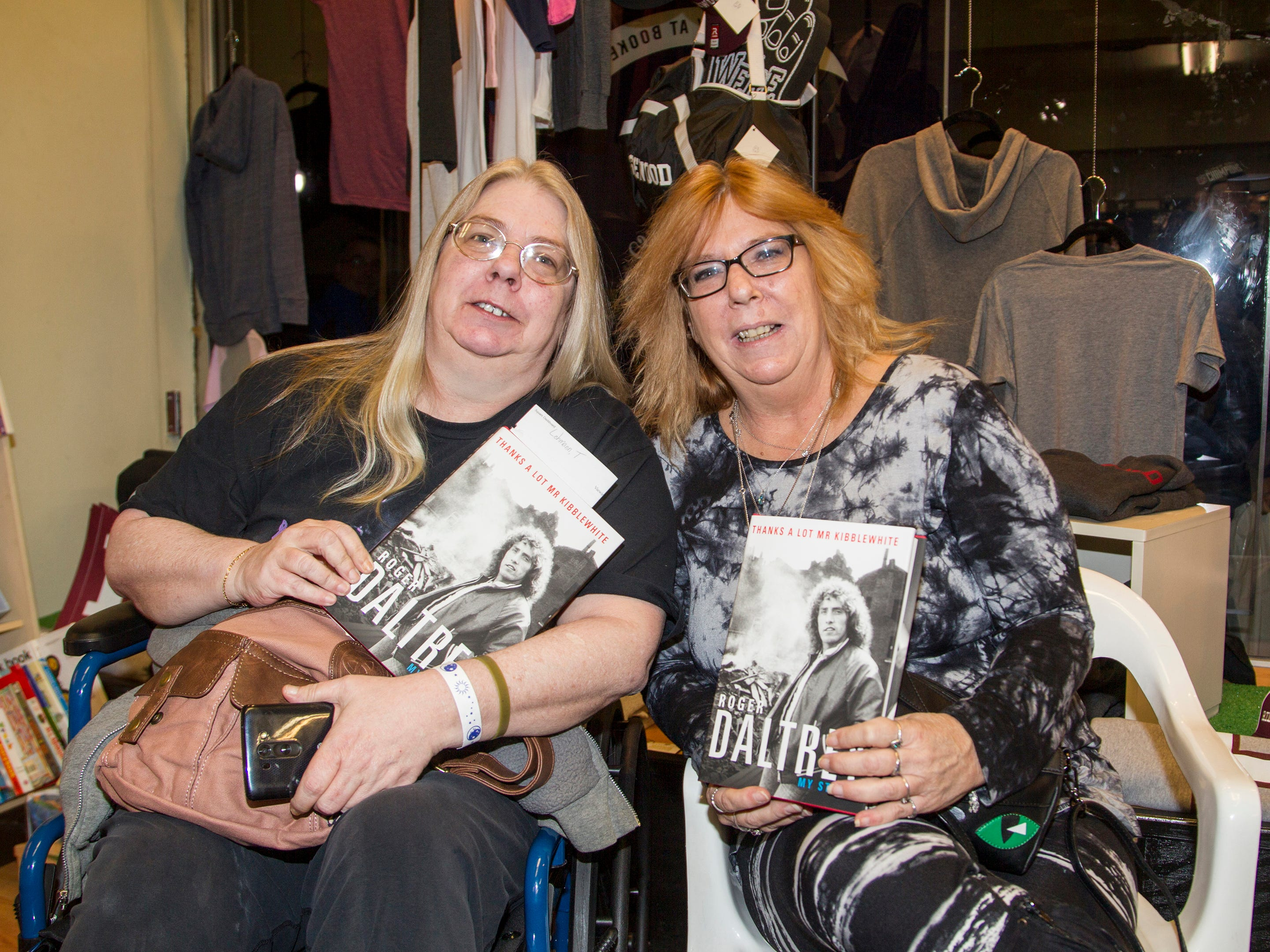 "Laurie and Terry. Roger Daltrey, founding member of the band THE WHO, signed copies of his book ""Roger Daltrey: My Story"" at Bookends in Ridgewood. 10/25/2018"