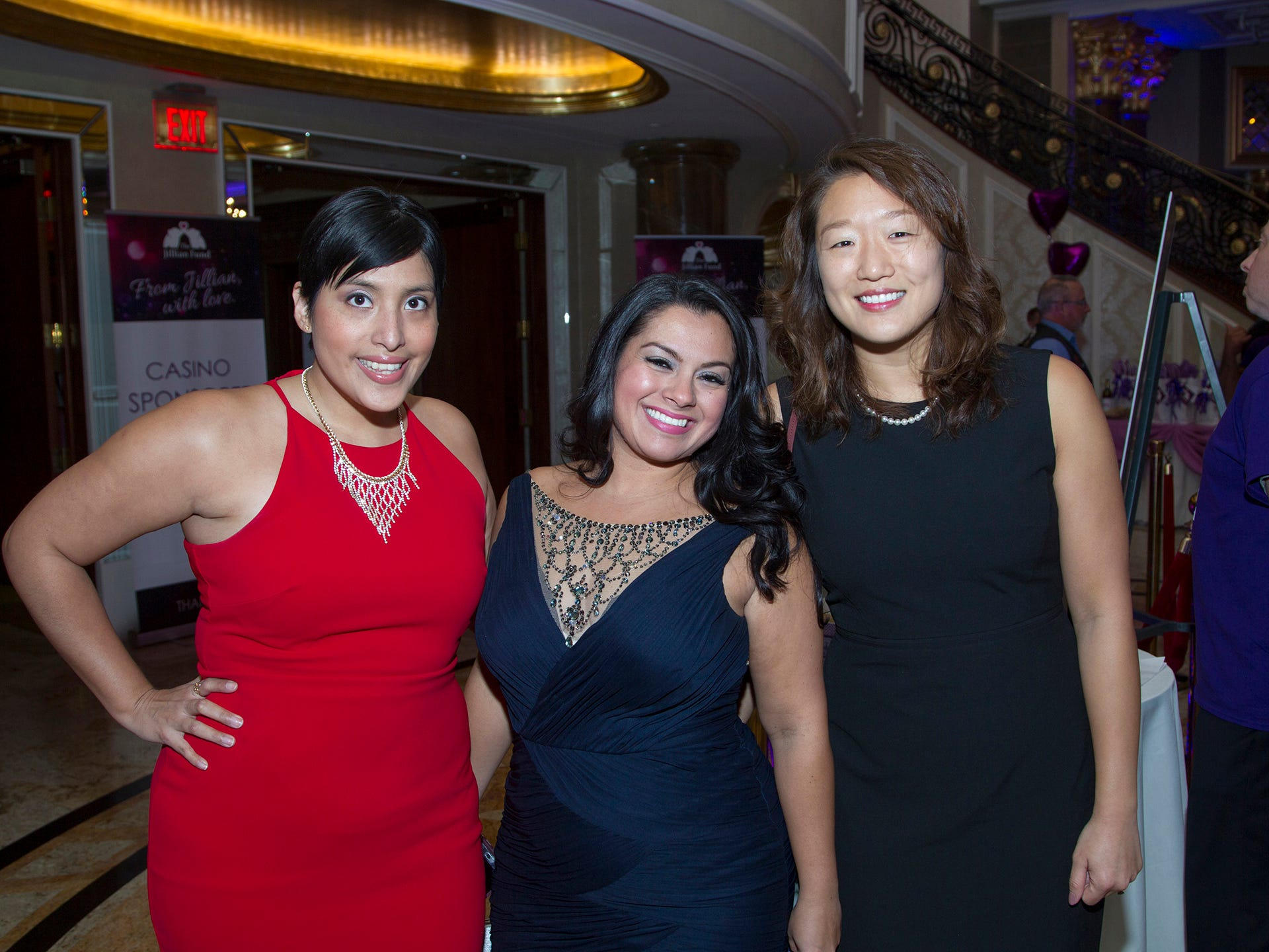 "Diana Gill, Diana Vasquez, Youngjae Lee. The Jillian Fund held its ""Taste of Italy"" at The Venetian in Garfield. The evening featured casino games, wine tasting, and a silent auction. 10/24/2018"