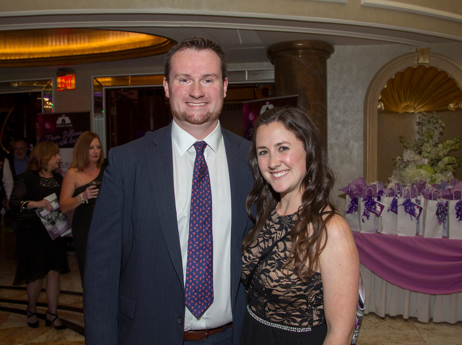 "Bryan and Jessica Hegerty. The Jillian Fund held its ""Taste of Italy"" at The Venetian in Garfield. The evening featured casino games, wine tasting, and a silent auction. 10/24/2018"