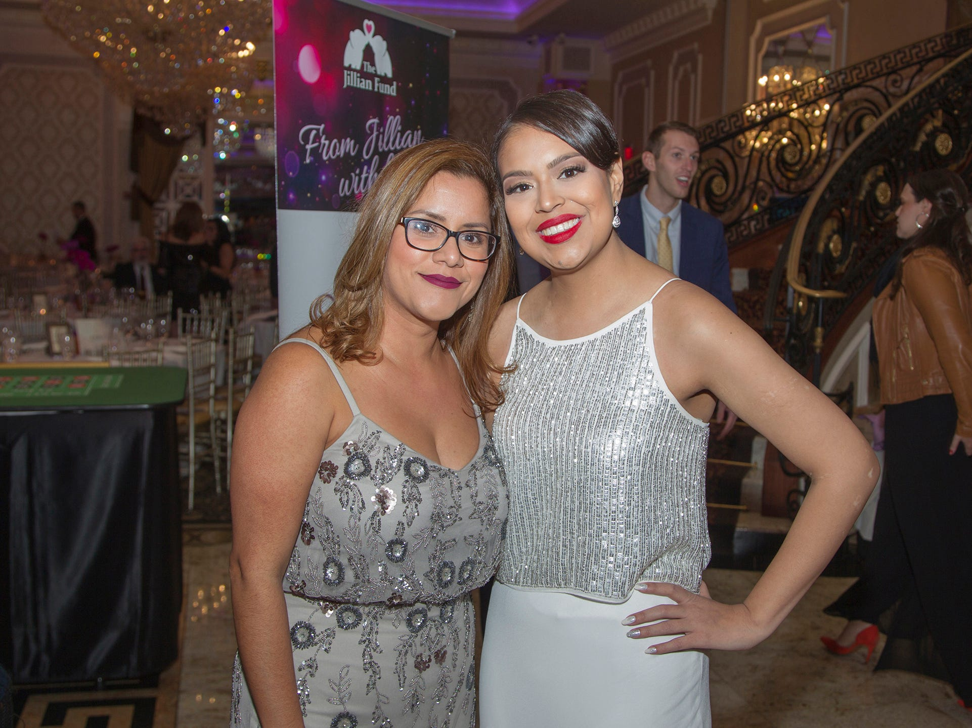 "Jennifer Sevilla, Stephanie Cisne. The Jillian Fund held its ""Taste of Italy"" at The Venetian in Garfield. The evening featured casino games, wine tasting, and a silent auction. 10/24/2018"