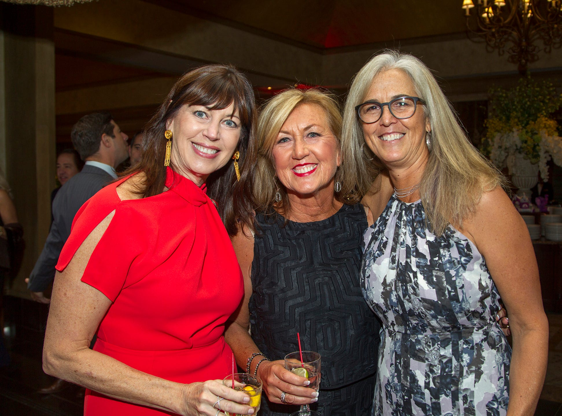 "Jane Cebula, Cathy Fantuzzi, Lynn Monica. The Jillian Fund held its ""Taste of Italy"" at The Venetian in Garfield. The evening featured casino games, wine tasting, and a silent auction. 10/24/2018"