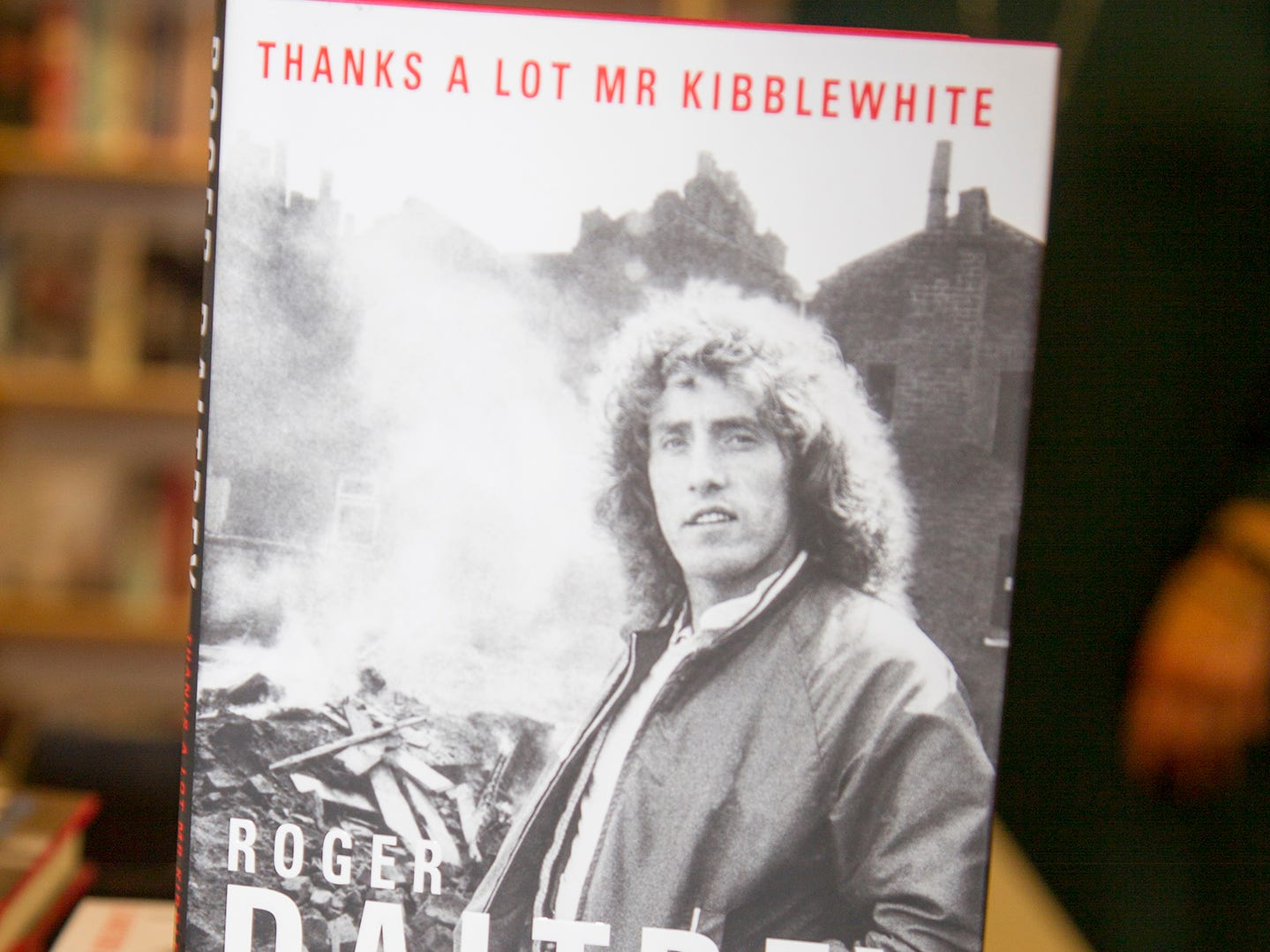 "Roger Daltrey, founding member of the band THE WHO, signed copies of his book ""Roger Daltrey: My Story"" at Bookends in Ridgewood. 10/25/2018"