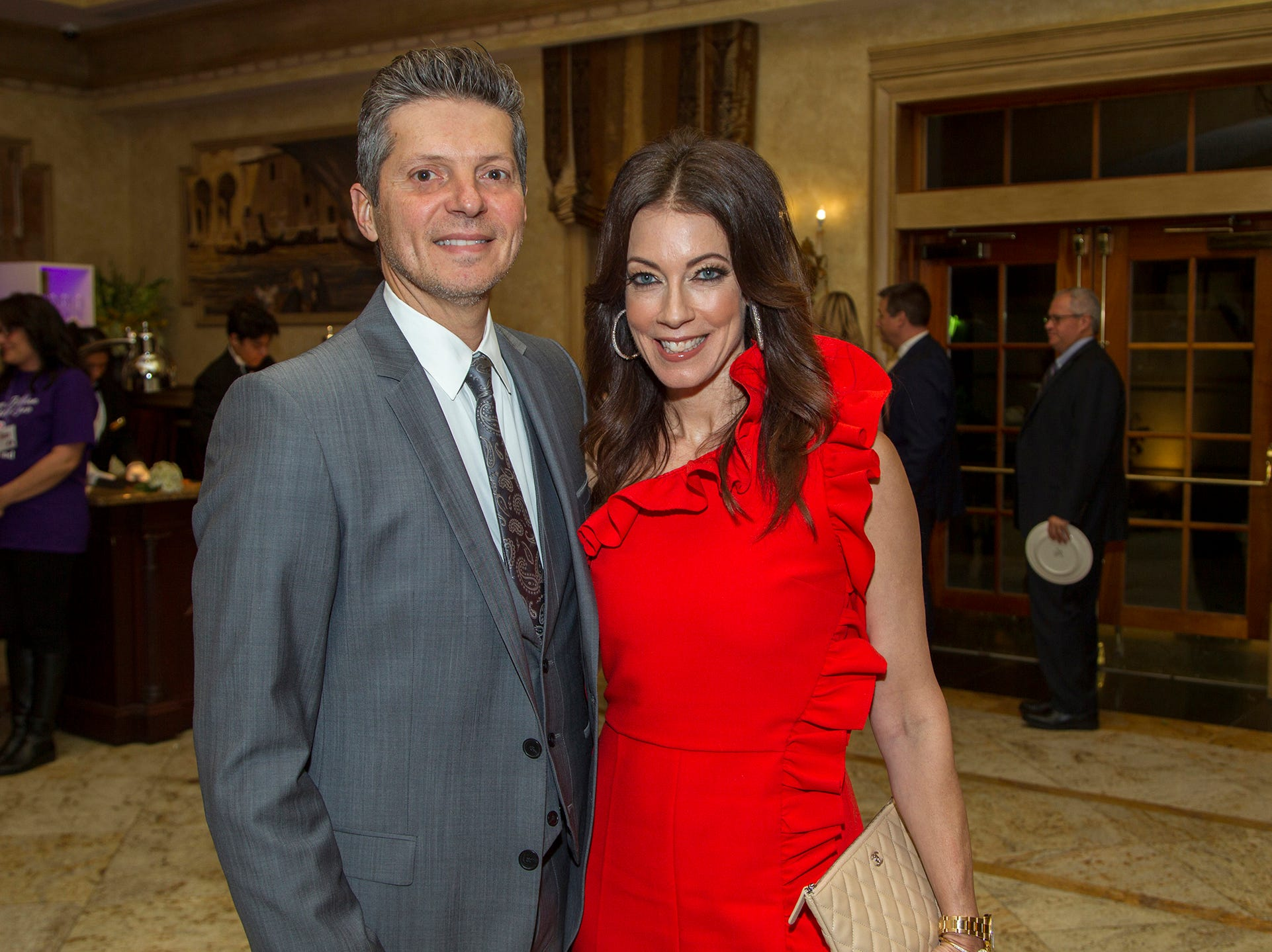 "Charlie and Jennifer Natar. The Jillian Fund held its ""Taste of Italy"" at The Venetian in Garfield. The evening featured casino games, wine tasting, and a silent auction. 10/24/2018"