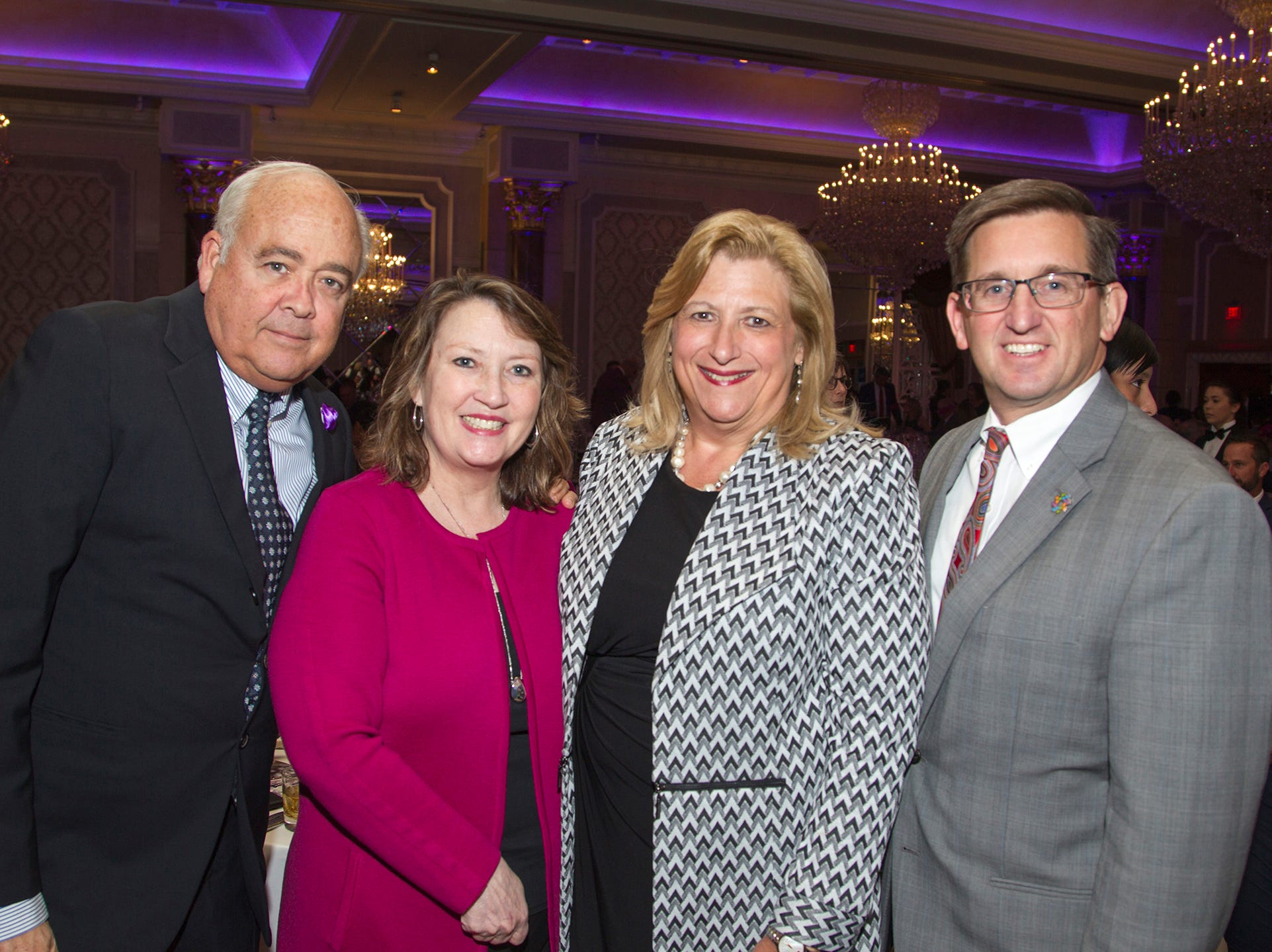 "Dr Alfred Gillio, Clare Ward, Linda Stanton, William Faverzani. The Jillian Fund held its ""Taste of Italy"" at The Venetian in Garfield. The evening featured casino games, wine tasting, and a silent auction. 10/24/2018"