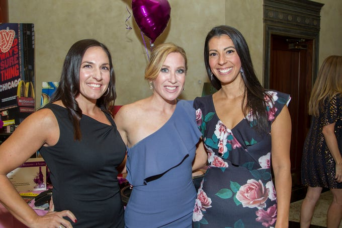 "Lisa Curry, Jessica Labita, Charla O'Hara. The Jillian Fund held its ""Taste of Italy"" at The Venetian in Garfield. The evening featured casino games, wine tasting, and a silent auction. 10/24/2018"