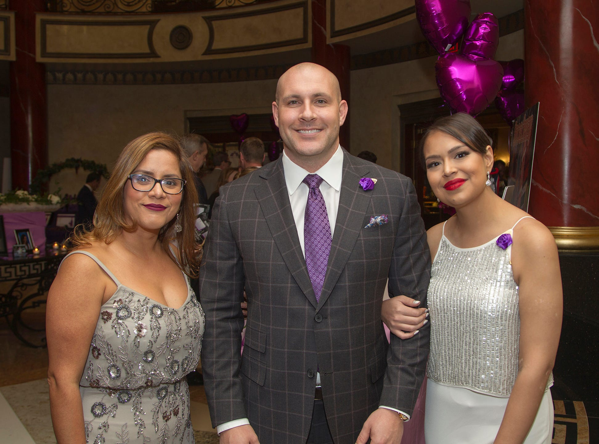 "Kayla Schimmenti, Bill McLaughlin, Dolly Bakaletz. The Jillian Fund held its ""Taste of Italy"" at The Venetian in Garfield. The evening featured casino games, wine tasting, and a silent auction. 10/24/2018"