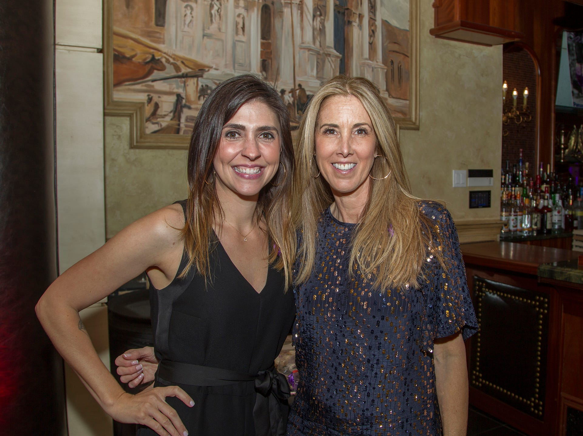 "Jenna Stramaglio, Lisa Monica. The Jillian Fund held its ""Taste of Italy"" at The Venetian in Garfield. The evening featured casino games, wine tasting, and a silent auction. 10/24/2018"