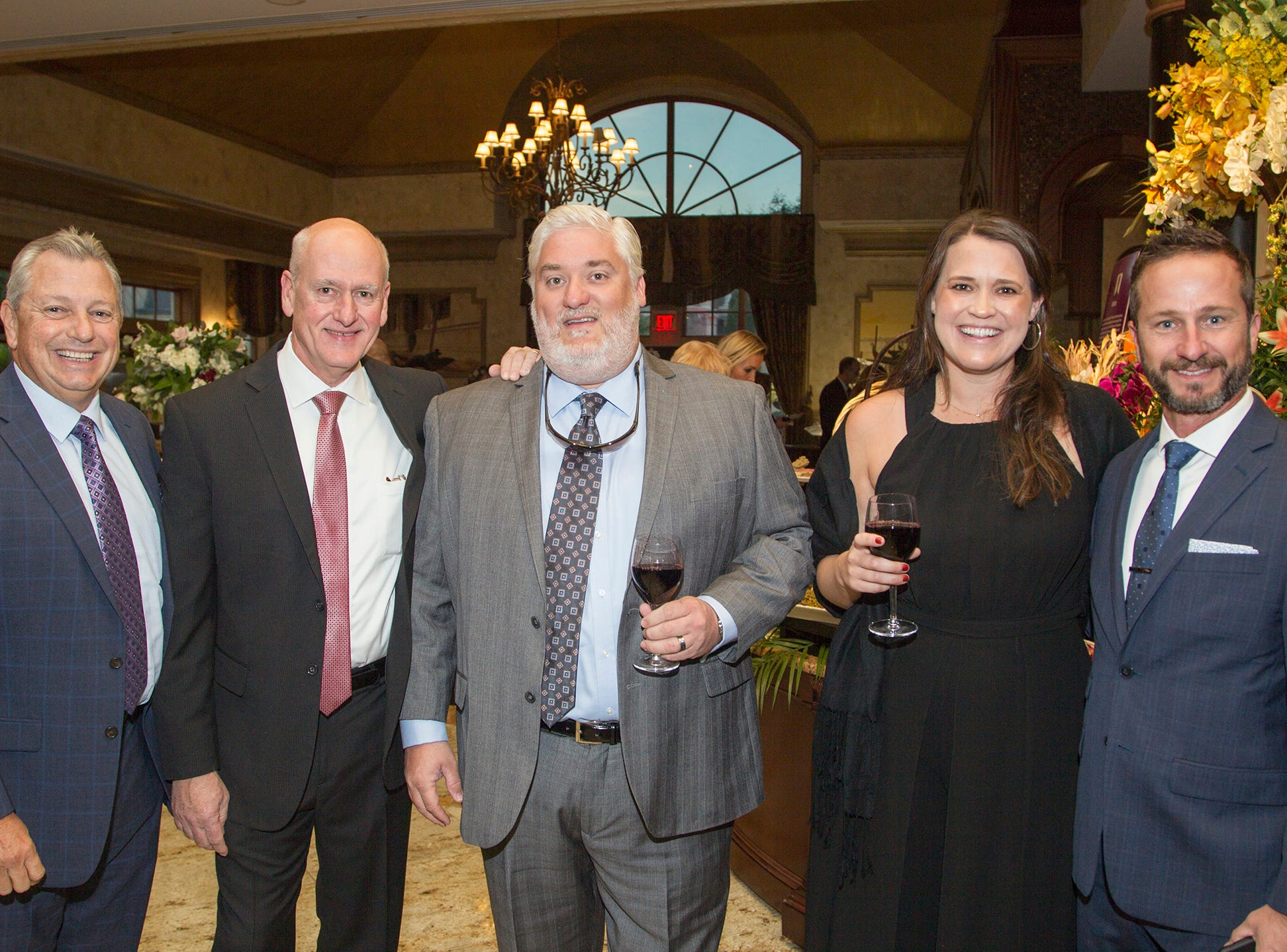 "Jim V'Emivio, Carl Mica, john Browning, Meg Acciavatti, Jeff McWilliams. The Jillian Fund held its ""Taste of Italy"" at The Venetian in Garfield. The evening featured casino games, wine tasting, and a silent auction. 10/24/2018"