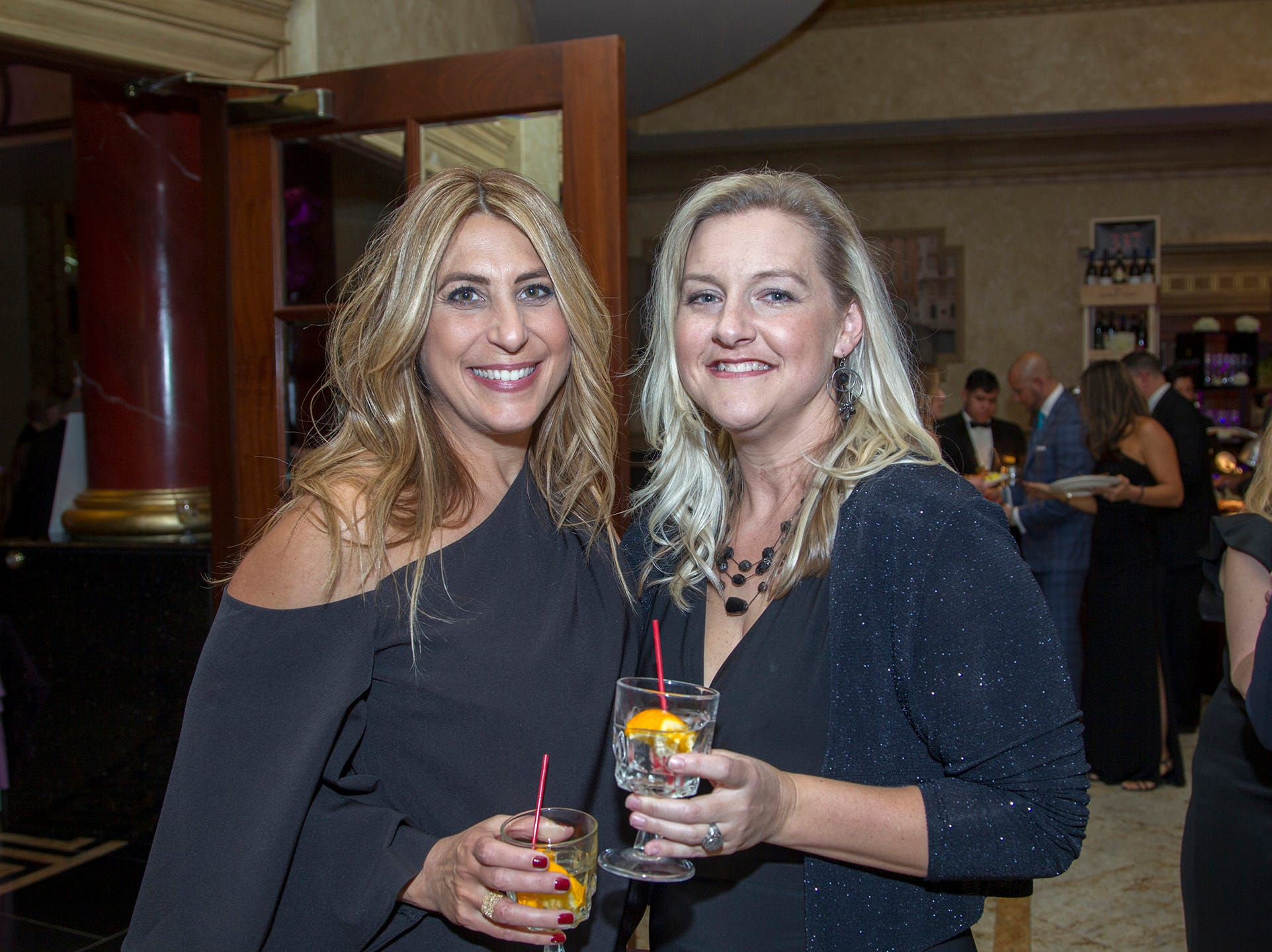 "Grace Nardella, Ali Desmet. The Jillian Fund held its ""Taste of Italy"" at The Venetian in Garfield. The evening featured casino games, wine tasting, and a silent auction. 10/24/2018"