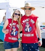 Attendees at a previous Red, White & Brew Festival pose for a photo.