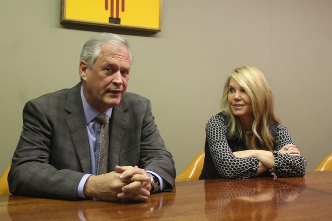 "New Mexico State Auditor Wayne Johnson, pictured with his wife Kursten Schneider Johnson, is running for reelection and said he will ""audit anybody regardless of their position, their power, or their party."""