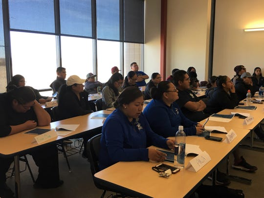 The training for Diné College students and staff members included information about what to do in an active-shooter situation.