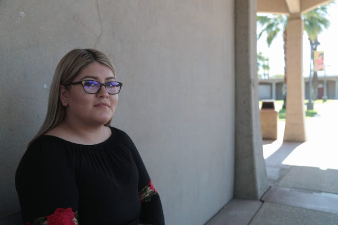 Monica Jimenez-Jaime is photographed at College of the Desert, Thursday, October 25, 2018. As an undocumented student Jimenez-Jaime has been able to take advantage of Assembly Bill 540 to receive grants and loans to pay for her education.