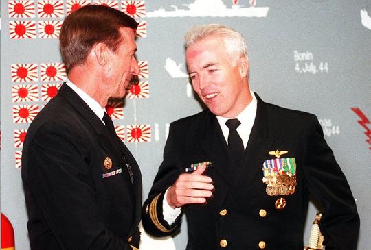 Former Blue Angels Commanding Officer Capt. George Dom in 1996.