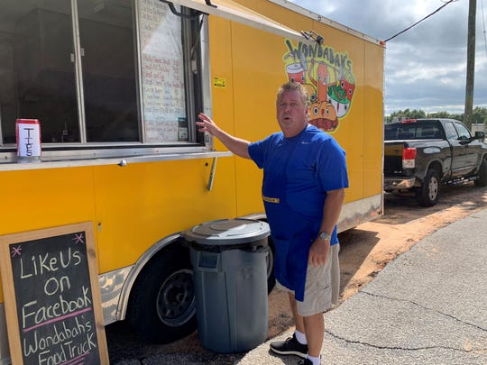 Steve Kosh talks about his menu at Wondabah's Food Truck on Bayou Boulevard.