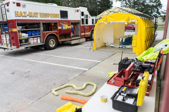 Ocean City Wright Fire Department donated a Hazardous Materials Response Unit to Escambia County Fire Rescue on Friday, Oct. 26, 2018.