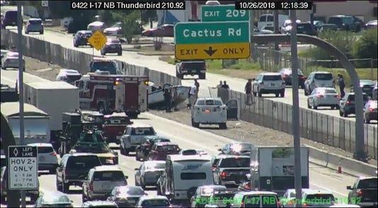 Fatal Crash On I 17 In Phoenix