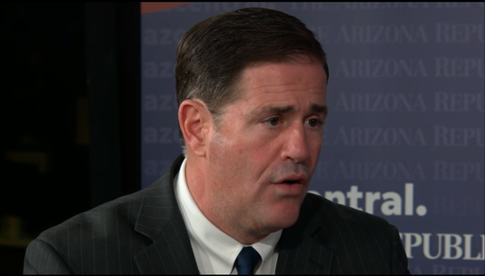 Doug Ducey in azcentral studio