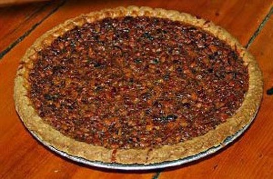 Pecan pie from Rock Springs Cafe.