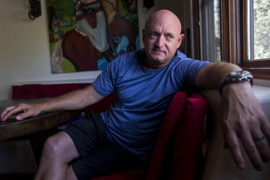 Mark Kelly, the retired astronaut and husband of former Rep. Gabby Giffords, announced his Democratic bid for Senate against Republican Sen. Martha McSally.