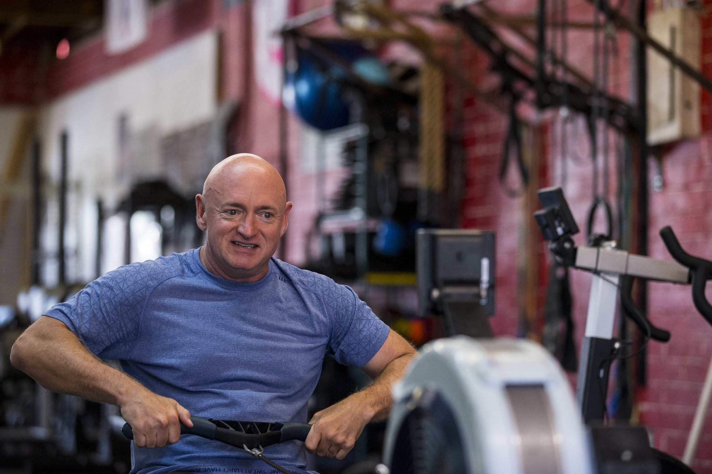 Mark Kelly says the Newtown mass shooting in December 2012 is what spurred wife Gabby Giffords and himself to step into the gun-control debate.
