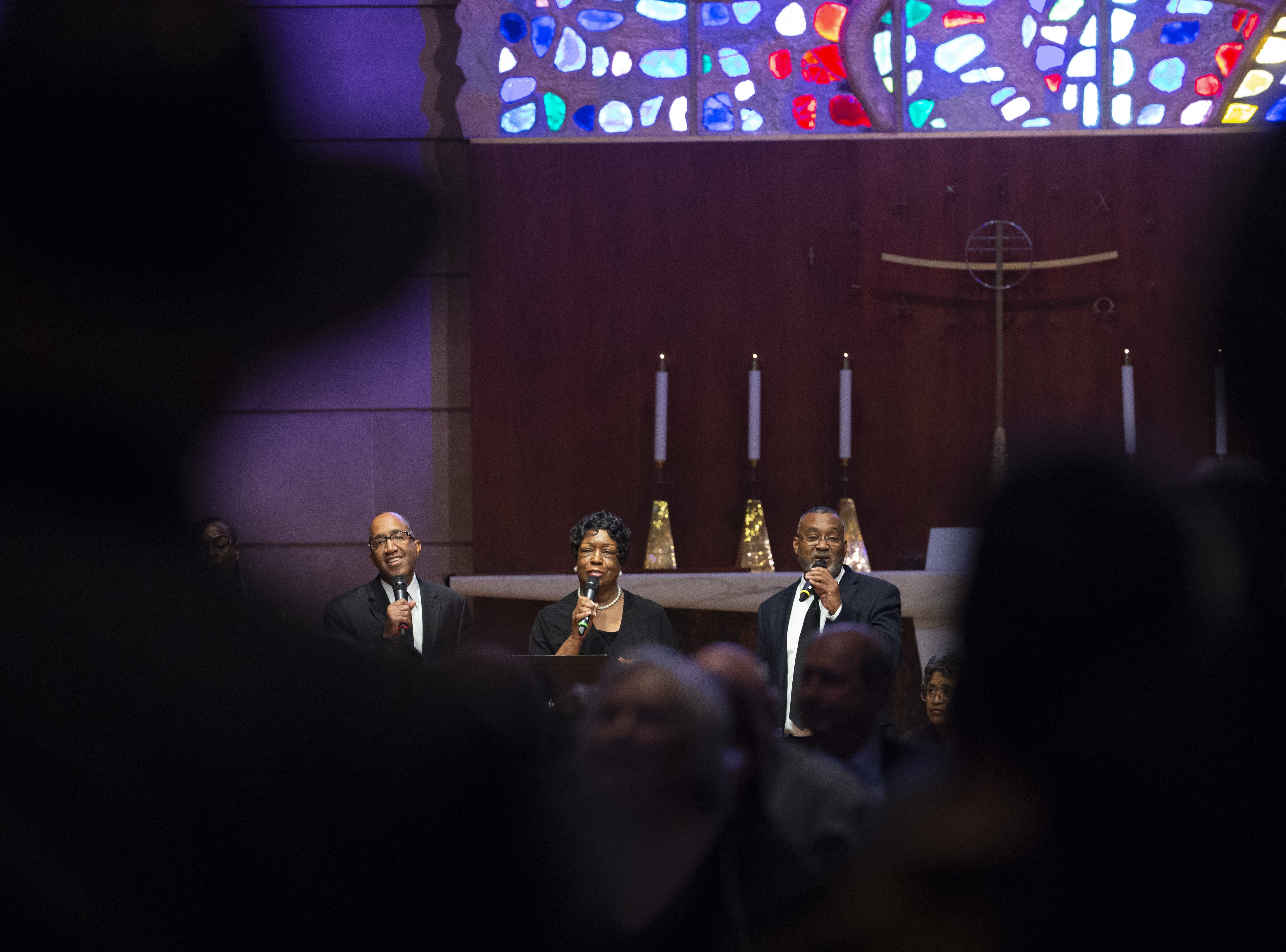 Tanner Chapel Voices sings during memorial services for Carolyn Warner, at First United Methodist Church in on October 25, 2018. Warner was the 15th Superintendent of Public Education for the state of Arizona and nearly became the state's first female governor in 1986.