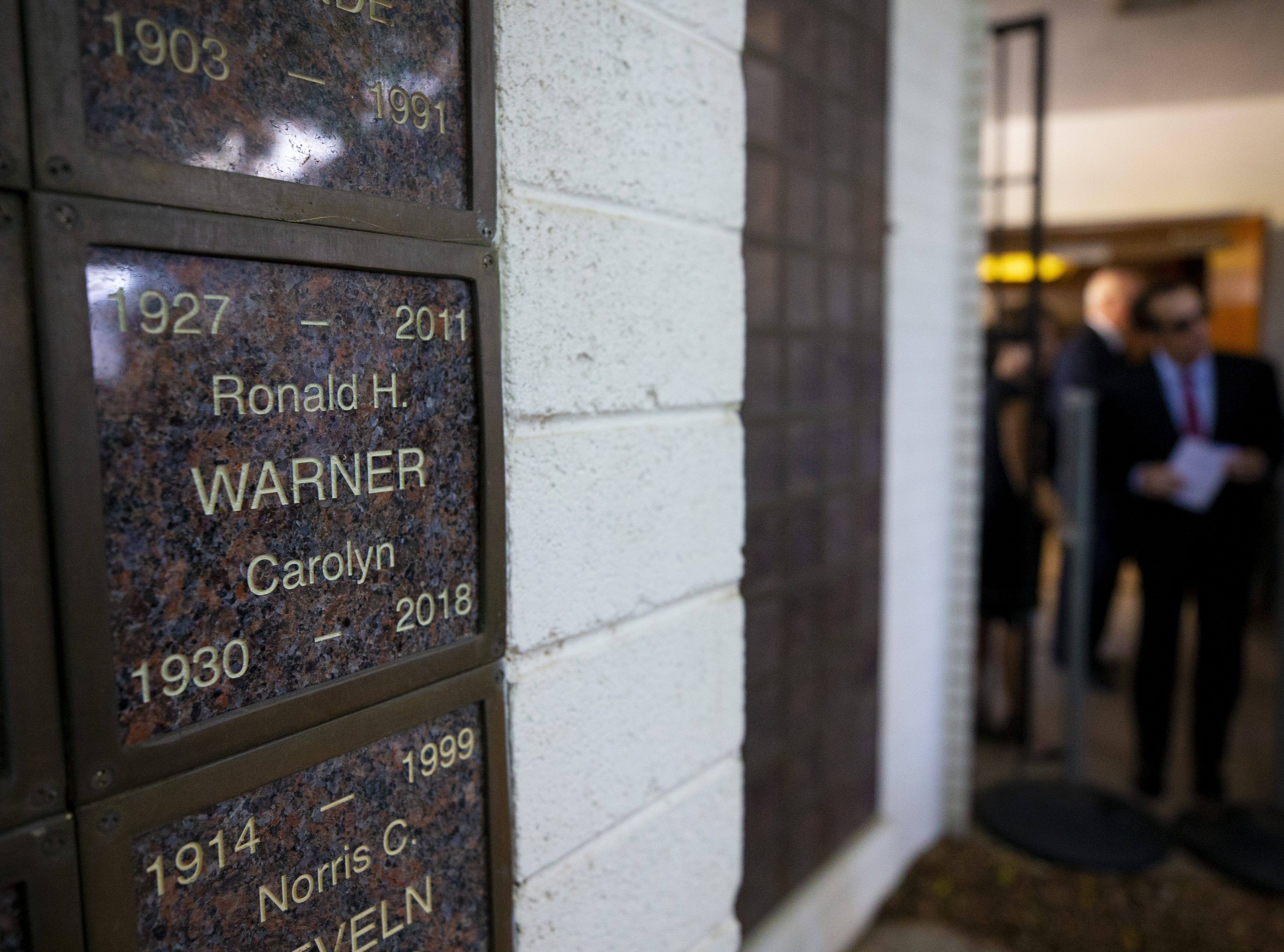 Carolyn Warner is entombed at First United Methodist Church. Warner was the 15th Superintendent of Public Education for the state of Arizona and nearly became the state's first female governor in 1986.
