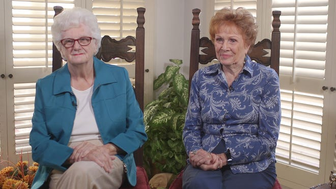 Karen Osborne (left) and Helen Purcell (right) talk about running Maricopa County elections for more than 20 years.