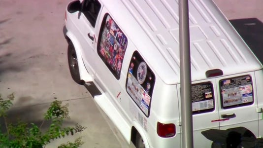 Federal law enforcement examines van in Florida