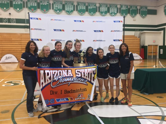 Perry won its second state badminton title in a row on Thursday, Oct. 25.