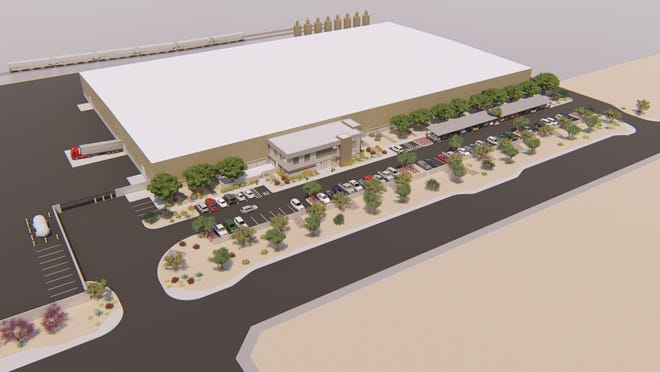 A rendering of SeaCa Packaging, a new manufacturing plant coming to Surprise.