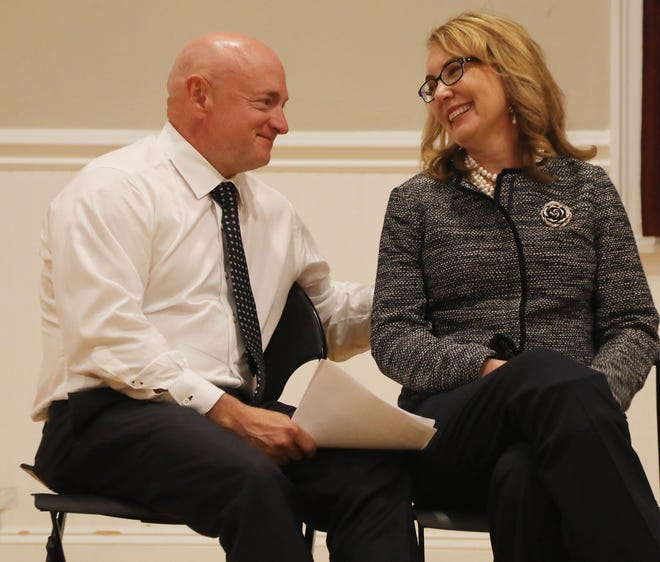 Senate candidate Mark Kelly and his wife, former Rep. Gabby Giffords