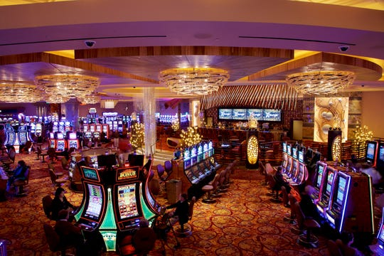 The interior of Parx Casino in Bensalem, Pa.
