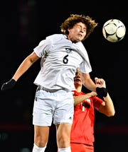 West York vs Susquehannock during boys' District 3, Class 3-A soccer quarterfinal game action at Susquehannock High School in Glen Rock, Thursday, Oct. 25, 2018. West York would win the game 1-0. Dawn J. Sagert photo
