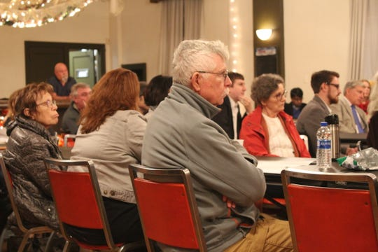Members of the audience said they were happy the candidates kept the discussion civil and policy centered. (Photo by Rebecca Klar)