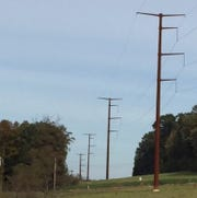 Existing monopole structures located in southern York County.
