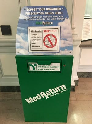 Residents can drop unwanted prescriptions pills in the MedReturn box at the York City Police station, located at 50 W. King St.
