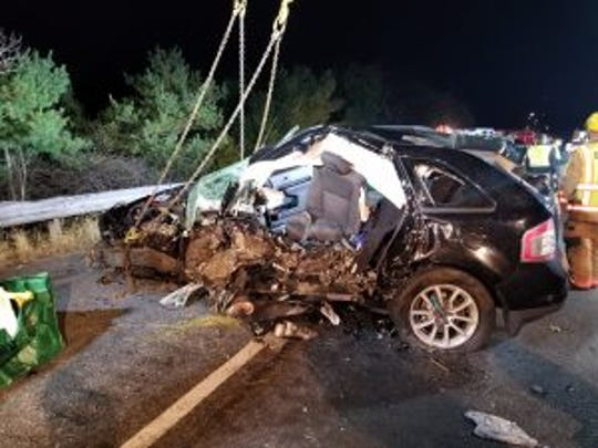 Crews responded to a fatal crash involving a Red Lion man in Baltimore County on Instate 83 Thursday, Oct. 25. Photo courtesy of Shrewsbury Volunteer Fire Company.