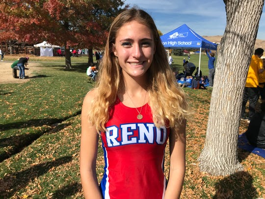 Reno High sophomore Penelope Smerdon won the girls 4A race on Friday.