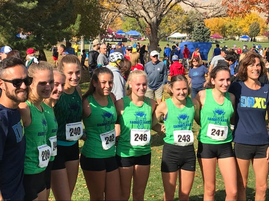 The Damonte Ranch girls team took second Friday in the Northern 4A Regional cross country race.