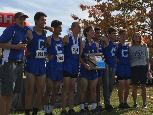 The Carson boys won the team cross country title in the Northern 4A Regional Friday at Rancho San Rafael park.