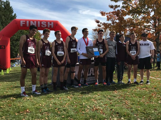 The Elko boys team was first Friday in the Northern 3A Regional cross country race.