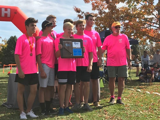 The North Tahoe boys team was first Friday in the Northern 2A/1A Regional cross country race.