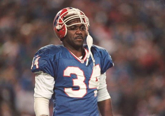 Thurman Thomas caught the winning TD pass in the Bills 1992 Monday night victory over the Jets.