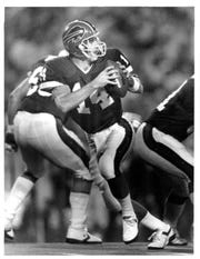 In Frank Reich's first start for the Bills in 1989, he led a comeback to beat the Rams on Monday Night Football.