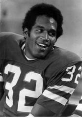 O.J. Simpson was the No. 1 overall draft pick in the 1969, and is among the Buffalo Bills' greatest picks. He was the first player to cross the 2,000-yard rushing mark in a season. He finished with 10,183 yards and 57 touchdowns in nine years with Buffalo.