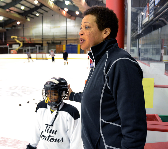 Florence Clemmons runs the city-funded Genesee Valley Youth Hockey Club in Rochester.