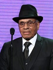 Former NHL player Willie O'Ree presents the inaugural Willie O'Ree Community Hero Award during the 2018 NHL Awards presented by Hulu at The Joint inside the Hard Rock Hotel & Casino on June 20, 2018 in Las Vegas, Nevada.