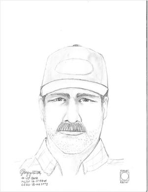 A composite sketch of a rape suspect sought by the Marion County Sheriff's Office